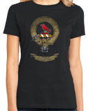 Ladies Black Macdonnell of Glengarry Clan - Scottish Pride Heritage Clan T-shirt