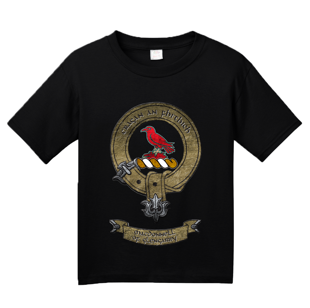 Youth Black Macdonnell of Glengarry Clan - Scottish Pride Heritage Clan T-shirt