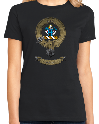 Ladies Black Clan Ogilvy - Scottish Pride Heritage Family Clan Ogilvy T-shirt