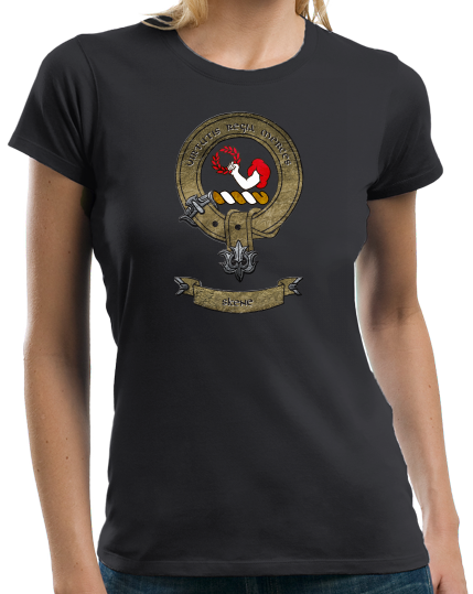 Ladies Black Clan Skene - Scottish Pride Heritage Family Name Clan Skene T-shirt