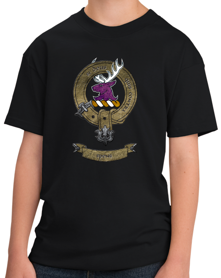 Youth Black Clan Spens - Scottish Pride Heritage Family Name Clan Spens T-shirt