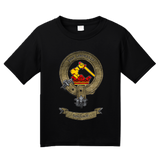 Youth Black Clan Wallace - Scottish Pride Heritage Family Clan Wallace T-shirt
