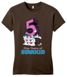 Girly Brown StarKid 5-Year Anniversary Cupcake  T-shirt
