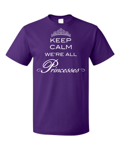 Standard Purple StarKid Twisted Keep Calm We're All Princesses T-shirt