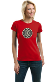 Ladies Red Snowflake Icon - Cute Skiing Winter Snow Bunny Snowboarder T-shirt
