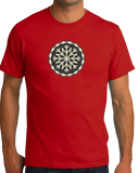 Standard Red Snowflake Icon - Cute Skiing Winter Snow Bunny Snowboarder T-shirt