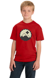 Youth Red Snow Patrol - Cool Retro Skiing Winter Skier Cute Logo T-shirt