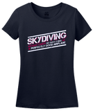 Ladies Navy Skydiving: No Such Thing As Perfectly Good Airplane - Daredevil T-shirt