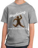 Youth Grey Skydiving: Where The Ground Is The Limit! - Skydiver Humor T-shirt