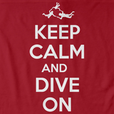 KEEP CALM AND DIVE ON Red art preview