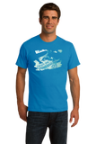 Unisex Aqua Blue Excuse Me While I Kiss The Sky - Skydiving Extreme Sports Funny T-shirt