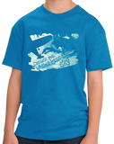 Youth Aqua Blue Excuse Me While I Kiss The Sky - Skydiving Extreme Sports Funny T-shirt