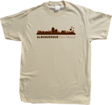 Unisex Natural Albuquerque, NM City Skyline - New Mexico Capital Breaking Bad T-shirt