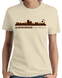 Ladies Natural Albuquerque, NM City Skyline - New Mexico Capital Breaking Bad T-shirt