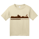 Youth Natural Albuquerque, NM City Skyline - New Mexico Capital Breaking Bad T-shirt