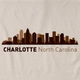 Charlotte, NC City Skyline Natural art preview