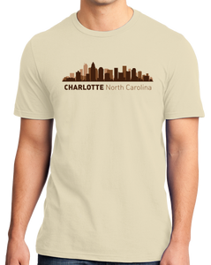 Unisex Natural Charlotte, NC City Skyline - Charlotte Pride Carolina Panthers T-shirt