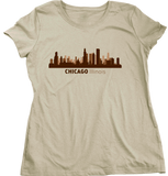 Ladies Natural Chicago, IL City Skyline - Second City Windy Chi-Town Love Pride T-shirt