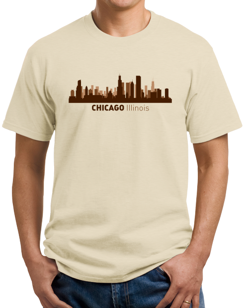 Unisex Natural Chicago, IL City Skyline - Second City Windy Chi-Town Love Pride T-shirt