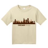Youth Natural Chicago, IL City Skyline - Second City Windy Chi-Town Love Pride T-shirt