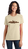 Ladies Natural Cleveland, OH City Skyline - Cleveland Pride Indians Browns Love T-shirt