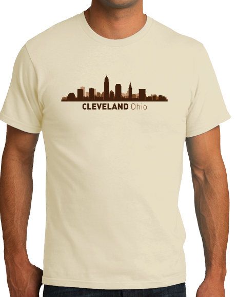 Unisex Natural Cleveland, OH City Skyline - Cleveland Pride Indians Browns Love T-shirt