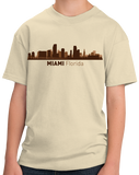 Youth Natural Miami, FL City Skyline - Florida Love South Beach Little Havana T-shirt