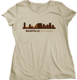 Ladies Natural Nashville, TN City Skyline - Music City Grand Ole Opry Country T-shirt