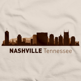 Nashville, TN City Skyline Natural art preview