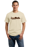 Unisex Natural Nashville, TN City Skyline - Music City Grand Ole Opry Country T-shirt