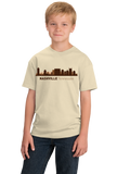 Youth Natural Nashville, TN City Skyline - Music City Grand Ole Opry Country T-shirt