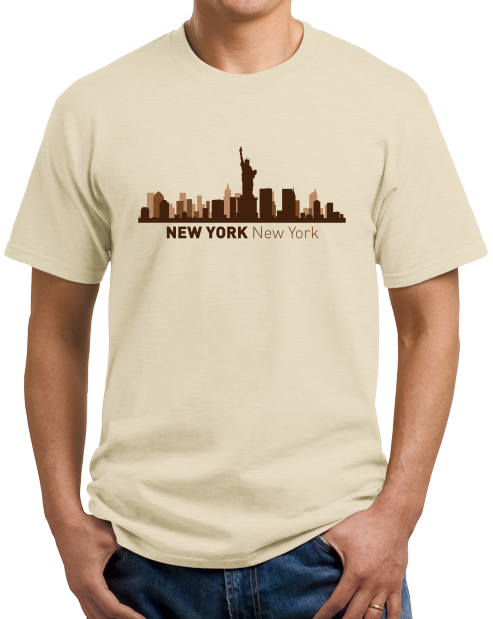 Unisex Natural New York, NY City Skyline - NYC Broadway Yankees Giants Rangers T-shirt