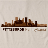 Pittsburgh, PA City Skyline Natural art preview