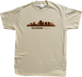 Unisex Natural Richmond, VA City Skyline - Virginia Pride Love State Capital T-shirt