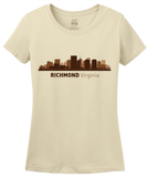 Ladies Natural Richmond, VA City Skyline - Virginia Pride Love State Capital T-shirt