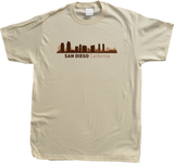 Unisex Natural San Diego, CA City Skyline - SD Chargers Padres California Love T-shirt