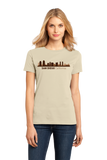 Ladies Natural San Diego, CA City Skyline - SD Chargers Padres California Love T-shirt