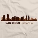 San Diego, CA City Skyline Natural art preview