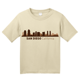 Youth Natural San Diego, CA City Skyline - SD Chargers Padres California Love T-shirt