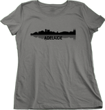Ladies Grey Adelaide, Australia City Skyline - Adelaide Love Hometown Pride T-shirt