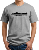 Unisex Grey Adelaide, Australia City Skyline - Adelaide Love Hometown Pride T-shirt