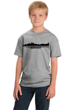 Youth Grey Adelaide, Australia City Skyline - Adelaide Love Hometown Pride T-shirt