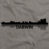 Darwin, Australia City Skyline Grey art preview