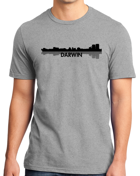 Unisex Grey Darwin, Australia City Skyline - Darwin Love Hometown City Pride T-shirt