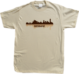 Unisex Natural Brisbane, Australia City Skyline - Brisbane Love Hometown Pride T-shirt