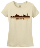 Ladies Natural Brisbane, Australia City Skyline - Brisbane Love Hometown Pride T-shirt
