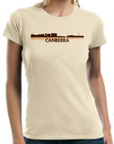 Ladies Natural Canberra, Australia City Skyline - Canberra Love Hometown Pride T-shirt