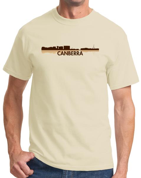 Unisex Natural Canberra, Australia City Skyline - Canberra Love Hometown Pride T-shirt