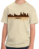 Youth Natural Perth, Australia City Skyline - Perth Love Hometown Pride Aussie T-shirt
