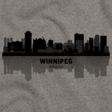 Winnipeg, Canada City Skyline Grey art preview